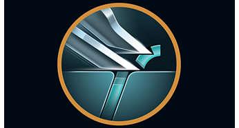 Super Lift & Cut-actie tilt haren op voor comfortabel en nauwkeurig scheren