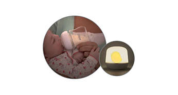 Soft glowing nursing light