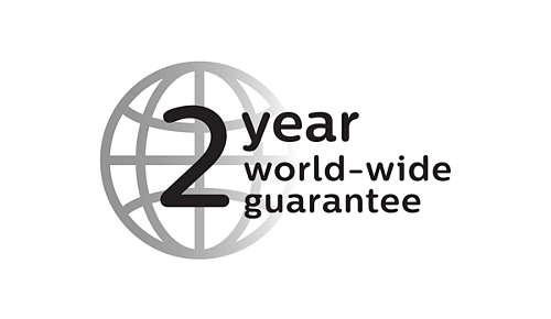 Med 2 års garanti