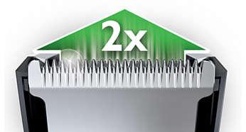 Élément de coupe doublement aiguisé avec réduction des frottements