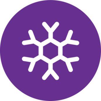 Hideglevegő-beállítás az extra kíméletes szárításhoz