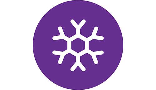 Nastavení chladného vzduchu pro extra jemné vysoušení