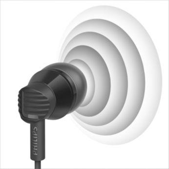 Efektyvūs 8,6 mm garsiakalbiai atkuria aiškų ir tikslų garsą