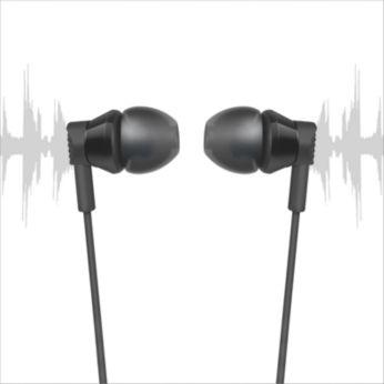 Dėl prie ausies priglundančio dizaino padidėja žemųjų dažnių kokybė ir sumažėja girdimas triukšmas