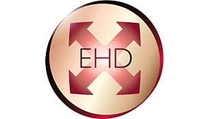 Moins de surchauffe avec la technologie EHD (Even Heat Distribution ou répartition uniforme de la chaleur)