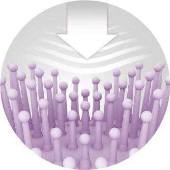 Bristle cushion with optimal surface is comfortable to use
