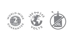 Philips Multigroom Trimmer 2-year guarantee, worldwide voltage