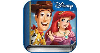 Gekoppeld met de Disney Storytime-app