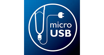 Micro-USB interface offering flexible charging options