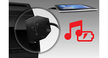 USB slot for music playback and quick charging
