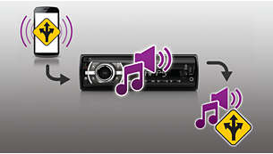 Navi Voice Mix pour entendre les annonces de navigation lorsque vous écoutez de la musique