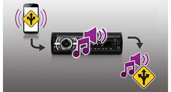 Navi Voice Mix per ascoltare le istruzioni di navigazione sopra la musica