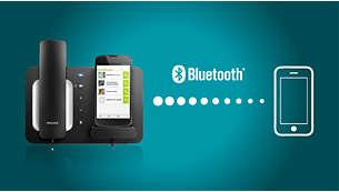 Vienkārša savienojuma izveide ar viedtālruņiem, kuros iespējots Bluetooth®