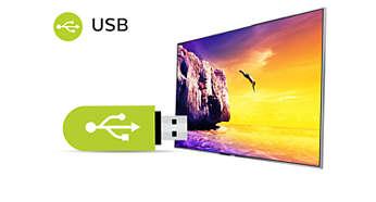 USB لتشغيل وسائط متعددة