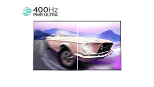 400Hz PMR Ultra HD for smooth moving images