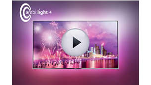 Ambilight 4-sided: imagine your TV in a halo of light