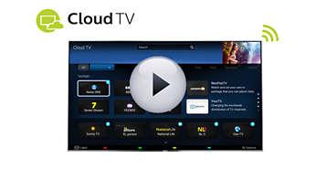 Aplikacja Cloud TV zapewnia dostęp do dodatkowych kanałów w telewizorze
