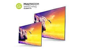 MultiRoom-Client– Zeigen Sie Live-TV und Aufzeichnungen von einem anderen Fernseher an
