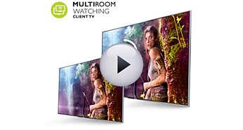Multiroom client - bekijk live-TV en opnamen van een andere TV