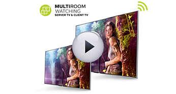 Funkcja Multiroom — udostępniaj programy telewizyjne na żywo i nagrania pomiędzy telewizorami