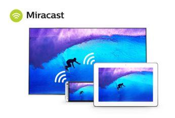 Wi-Fi Miracast™ – tükrözés az okostelefon képernyőjéről a TV-re