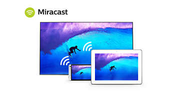 Wi-Fi Miracast™—mirror your smartphone screen to your TV