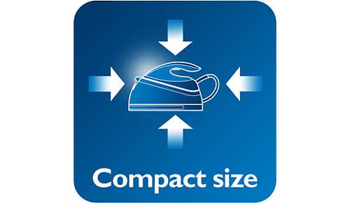 Compact en lichtgewicht strijkijzer voor gemakkelijker opbergen