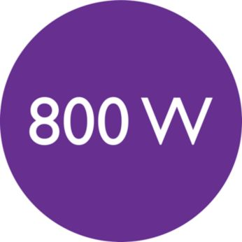 800-W styling power for beautiful results