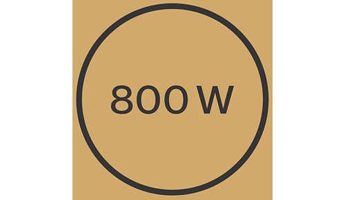 Moc 800W zapewnia piękne efekty stylizacji