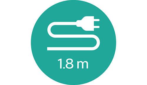 Cablu de 1,8 m pentru flexibilitate maximă