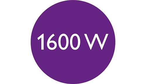 Moc 1600W umożliwia delikatne suszenie