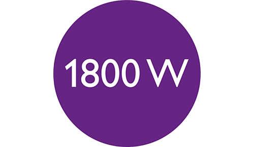 1800 W voor een perfect droogresultaat