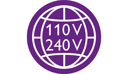 Dual voltage for worldwide use