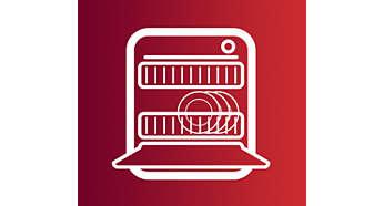 Akcesoria można myć w zmywarce, aby w prosty sposób wyczyścić produkt