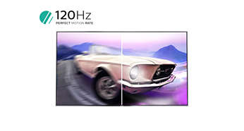120 Hz de PMR para as melhores imagens em movimento