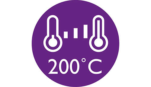 Digital temperature settings to suit your hair type