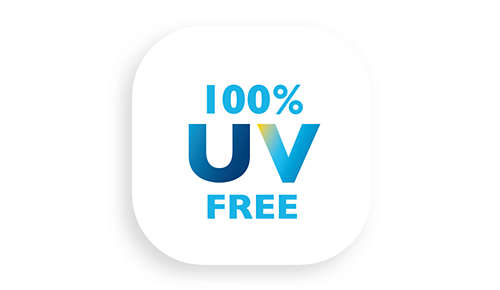 100% UV free light - safe for eyes and skin