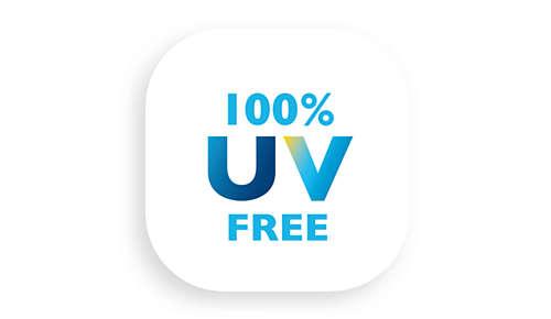 100% UV-freies Licht– sicher für Augen und Haut