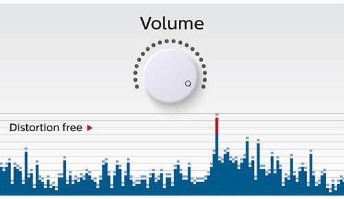 Anti-clipping-functie voor luide, vervormingsvrije muziek