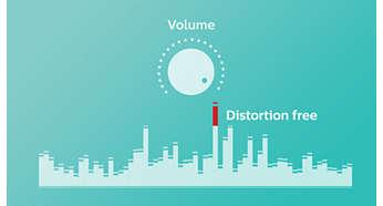 Anti-clipping-funktion för mindre förvrängning av musik på hög volym