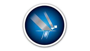 Exclusivo sistema Lift & Cut para un afeitado más al ras