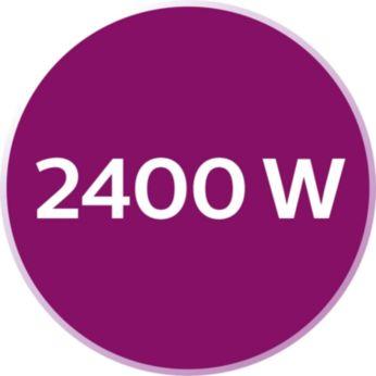 A 2400 W teljesítmény biztosítja a vasaló gyors felmelegedését