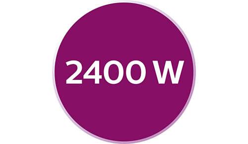 Moc 2400W zapewniająca szybkie nagrzewanie się