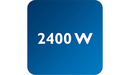 2400 W voor een korte opwarmtijd van het strijkijzer
