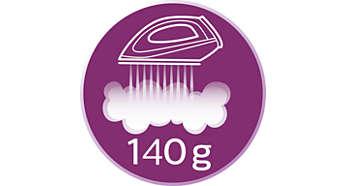 Dampfstoß von bis zu 140g