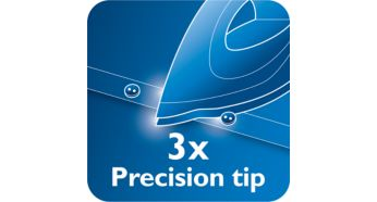Triple precision tip for optimal control and visibility - Philips Azur Steam Iron