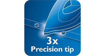 Triple precision tip for optimal control and visibility