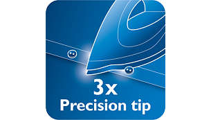 Špička Triple Precision umožňuje optimální kontrolu a viditelnost