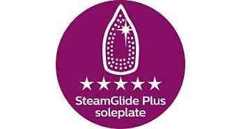 SteamGlide Plus-Bügelsohle: unsere beste Leistung bei der Gleitfähigkeit für schnelleres Bügeln
