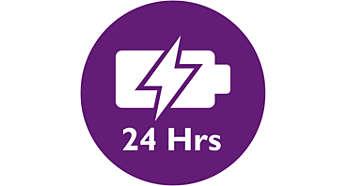 Höhere Betriebszeit von bis zu 24Stunden